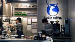 A Luckin Coffee shop in China