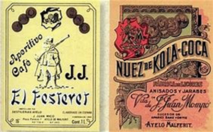 The Spanish Kola-Coca branding labels before Pemberton