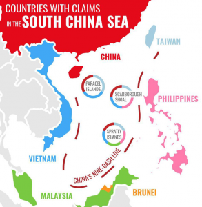 The different countries claiming the different bits. Map- Forbes