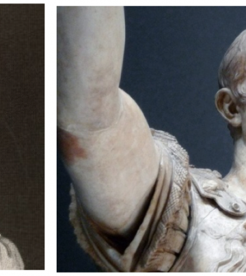 Roman historian Titus Livius (L) was a spin doctor for Emperor Augustus (R)
