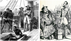 The slave and opium trades were driven by the returns to shareholders